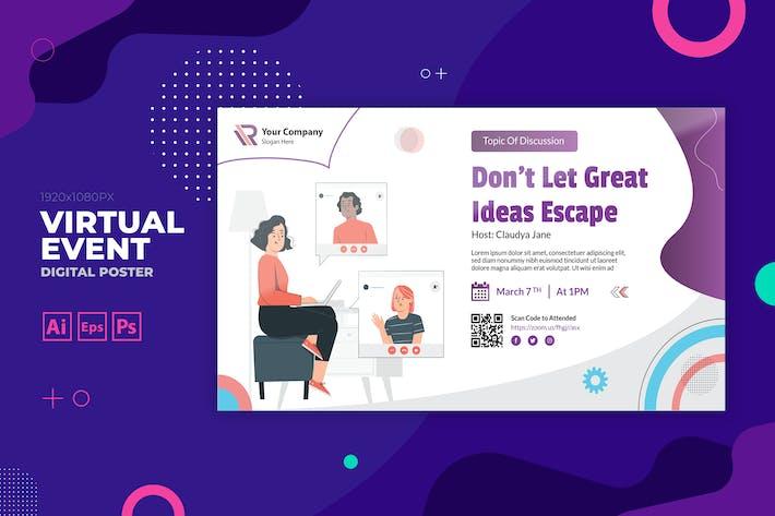 Online Training Event Digital Poster Flyer