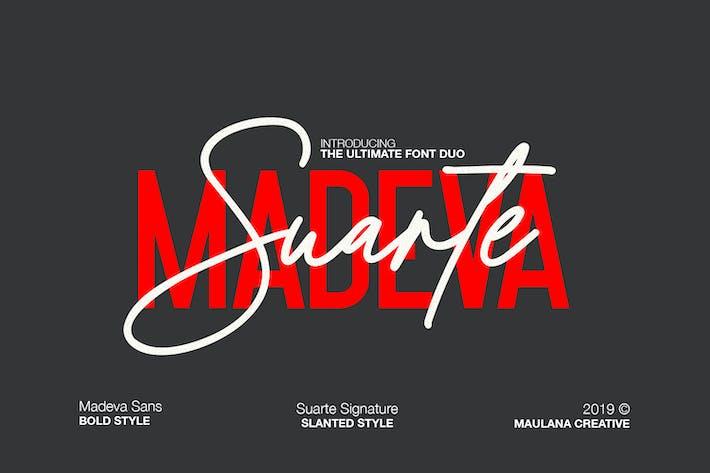 Thumbnail for Madeva Suarte Font Duo