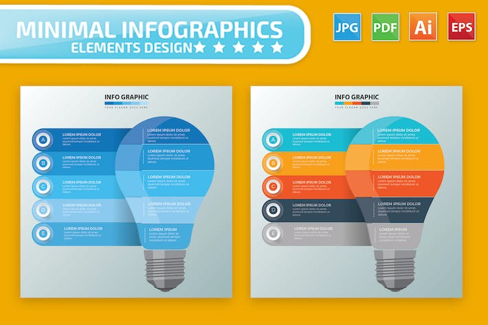 Thumbnail for Lightbulb Infographics