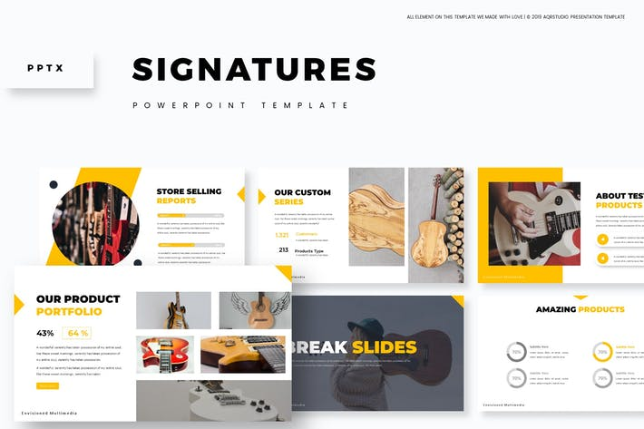 Cover Image For Signatures - Powerpoint Template