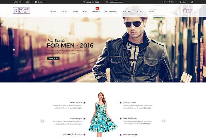 Thumbnail for Brandshop - eCommerce PSD Template