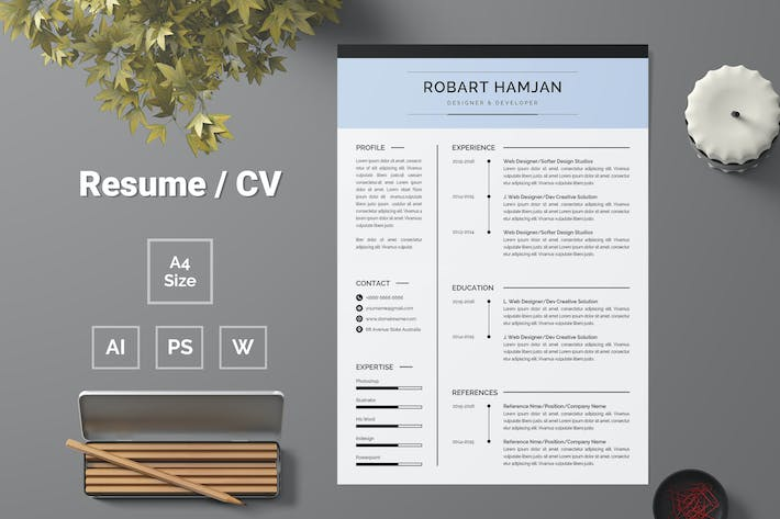 Thumbnail for Resume Template 80