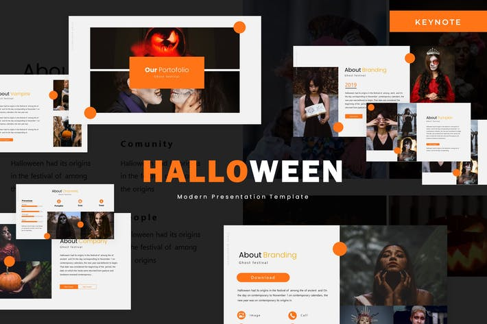 Thumbnail for Halloween - Keynote Template