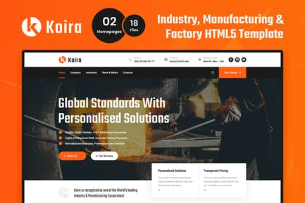 Koira - Industrie und Herstellung HTML5 Vorlage