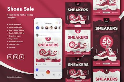 Sneaker Vente Modèle de médias sociaux