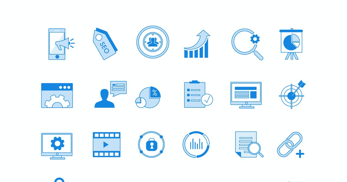 Download Business Blues Icons by Jumsoft