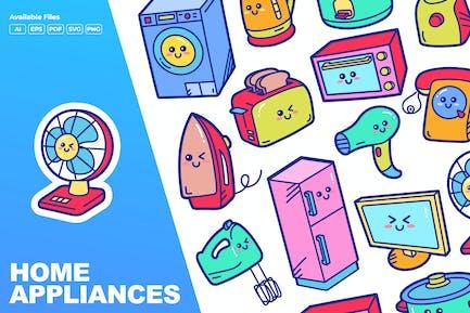 Home Appliances Doodle