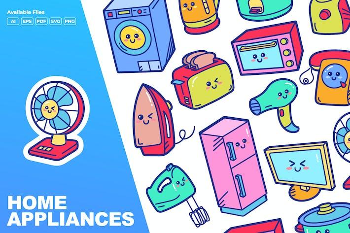 Haushaltsgeräte Doodle