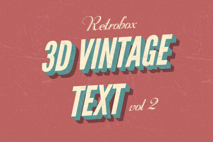Thumbnail for Retro Vintage Text Effect vol 2