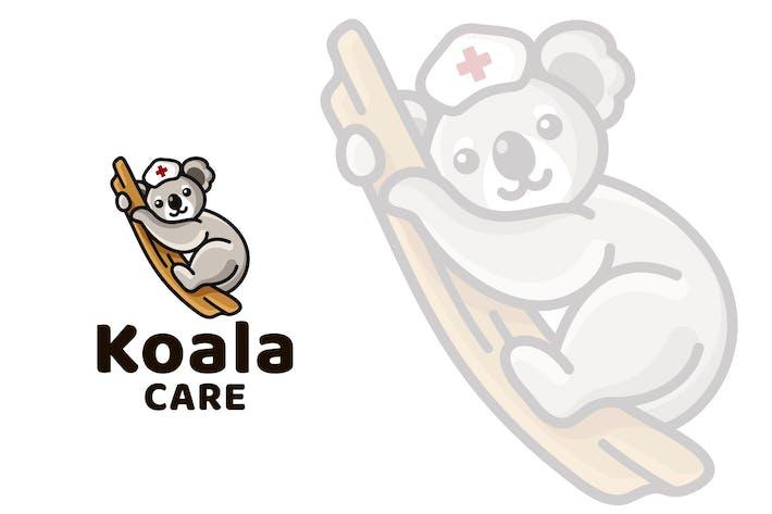 Koala Care Cute Kids Logo Template