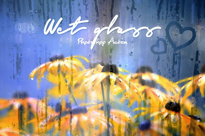 Cover Image For Wet Glass Photoshop Action