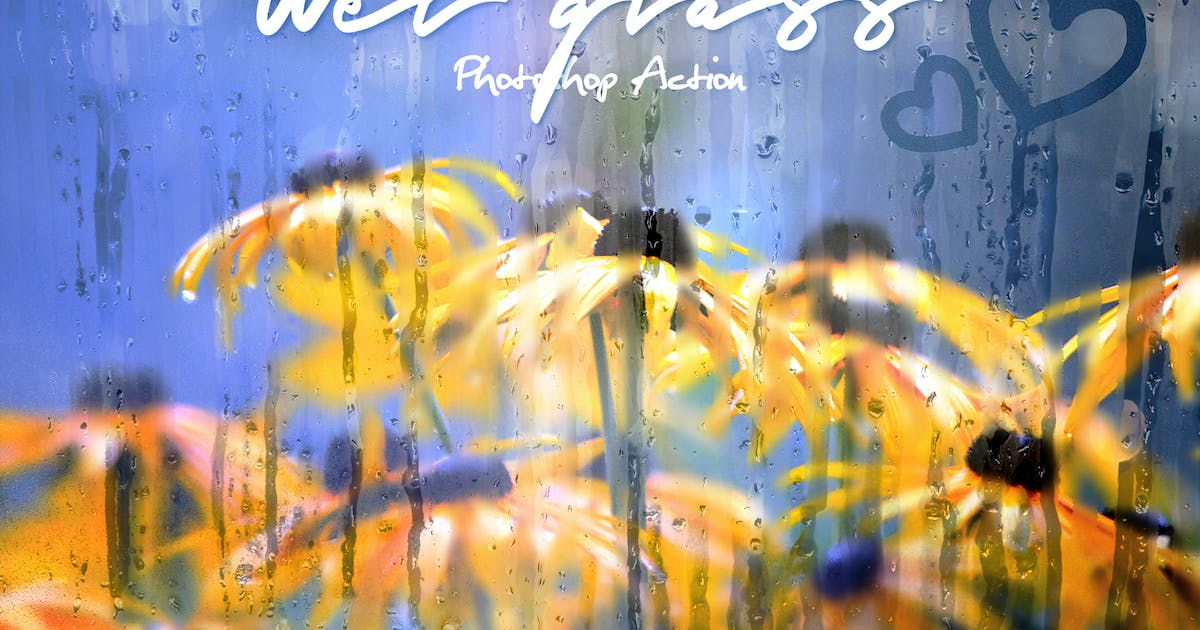 Download Wet Glass Photoshop Action by IndWorks