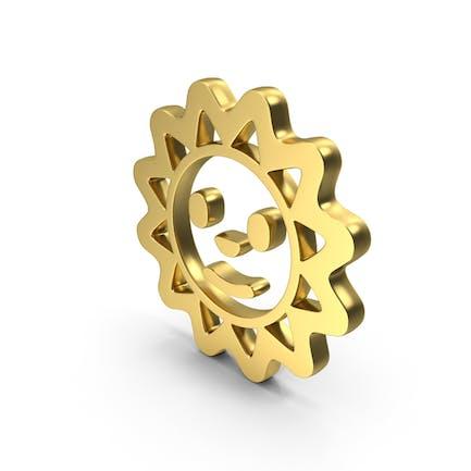 Sun Smile Face Logo Icon
