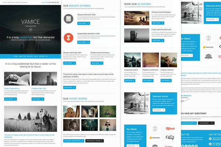 Thumbnail for Vamice Mail - Responsive Email Template