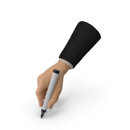 Suit Hand Holding a Black Marker Pen