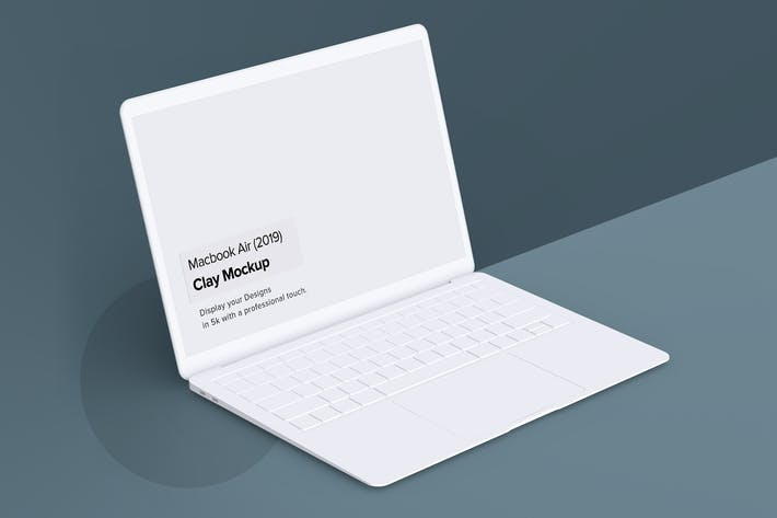 Minimal Macbook Air Mockup
