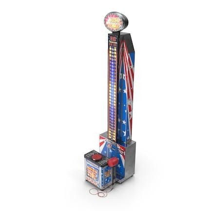 Modern High Striker Machine Switched On