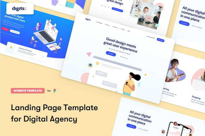 Thumbnail for Digits Landing Page Template