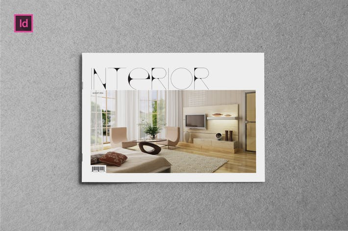 Thumbnail for INTERIOR - A5 Landscape Magazine template