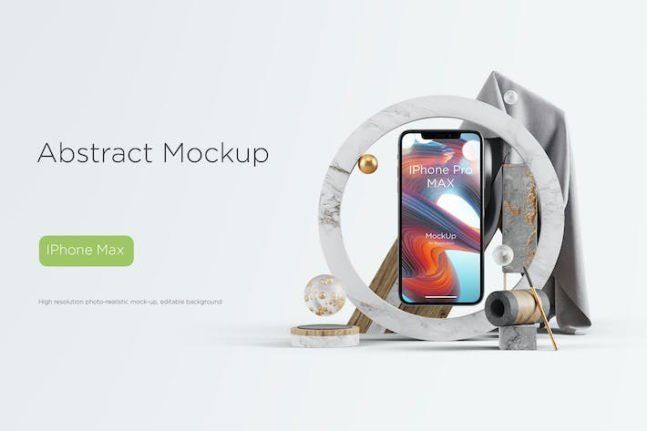 Cover Image For Abstract Mockup IPhone Pro Max vol.02