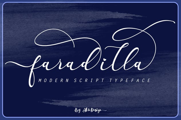 Fradilla - Modern Script Typeface - product preview 8