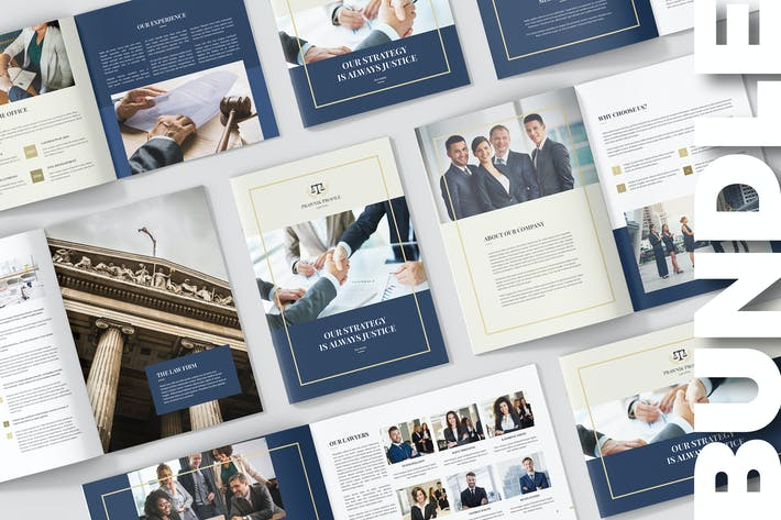 Thumbnail for Brochures – Law Firm Company Profile Bundle 3 in 1