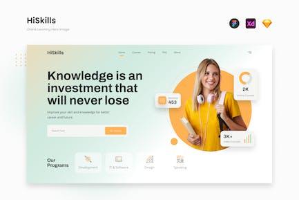 HiSkills - Gradient Online Learning Website Hero
