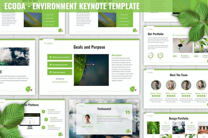 Thumbnail for Ecoda - Шаблон ключевых заметок среды
