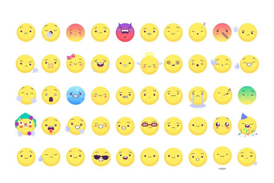 50 Emoji and Emoticons Pack
