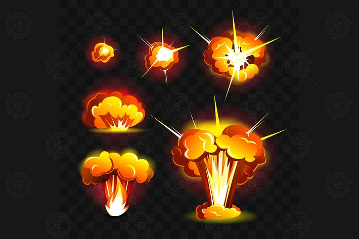 Big explosion - vector realistic isolated clip art