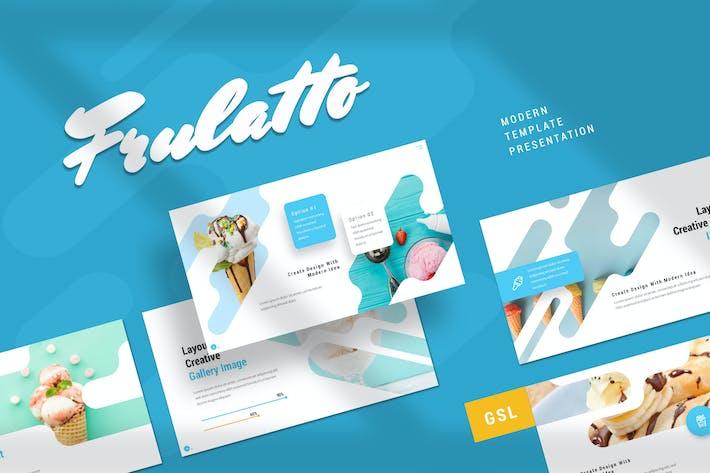 Thumbnail for Frulatto - Мороженое Google слайды Шаблон