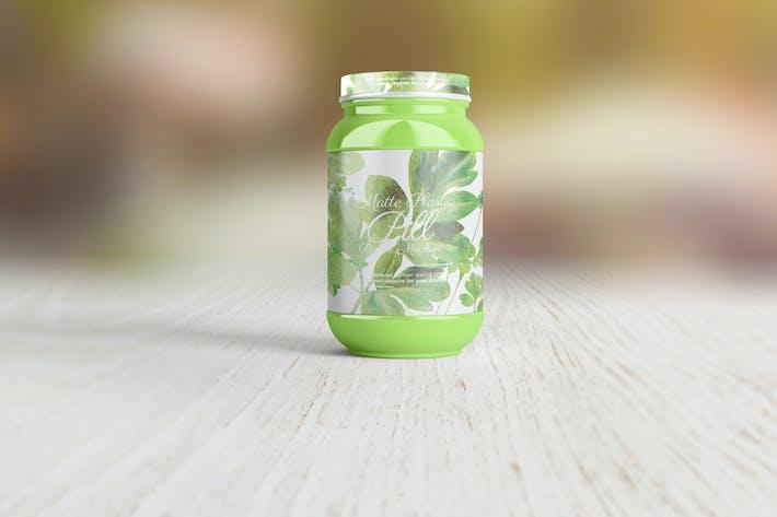 Thumbnail for Matte Plastic Pill Bottle Mockup