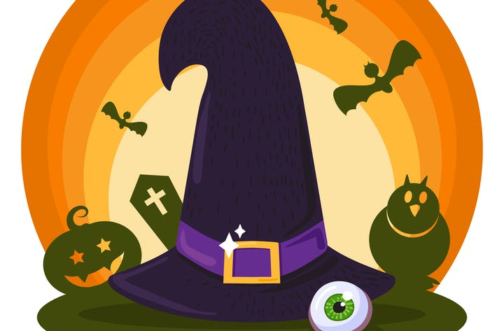 Thumbnail for Halloween Witch Hat Illustration