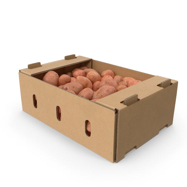 Thumbnail for Cardboard Box Of Red Potatoes