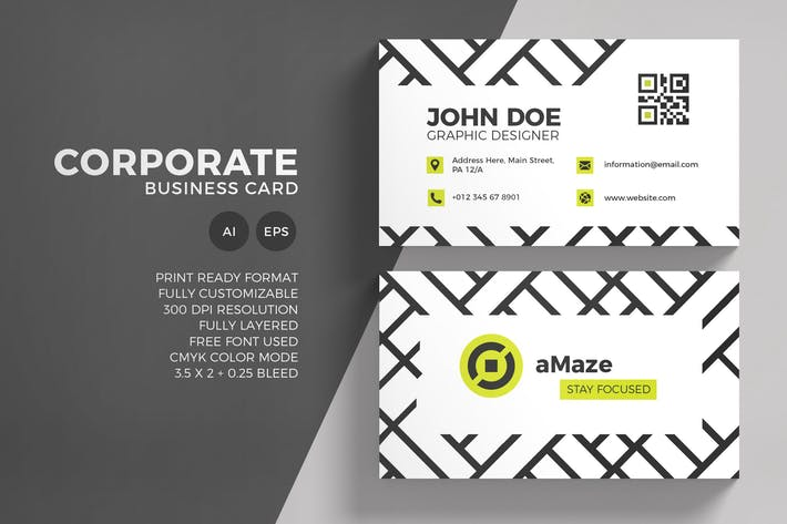 Thumbnail for Corporate Business Card Template