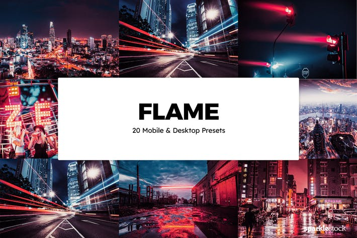 20 Flame Lightroom Presets & LUTs
