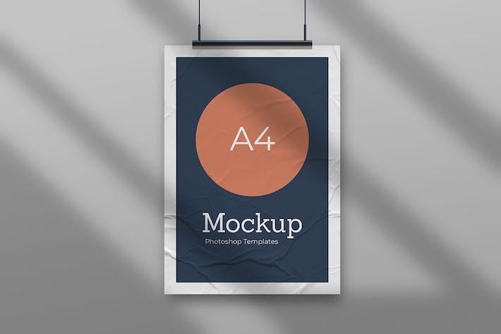 Thumbnail for Wrinkled Poster Mockup Vol.1