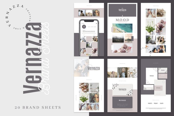 Thumbnail for Vernazza - Modern Brand Sheet Collection