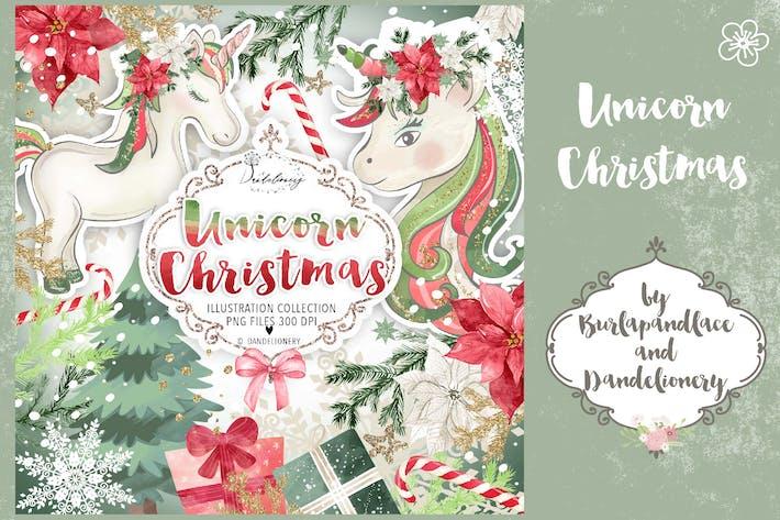Thumbnail for Unicorn Christmas design