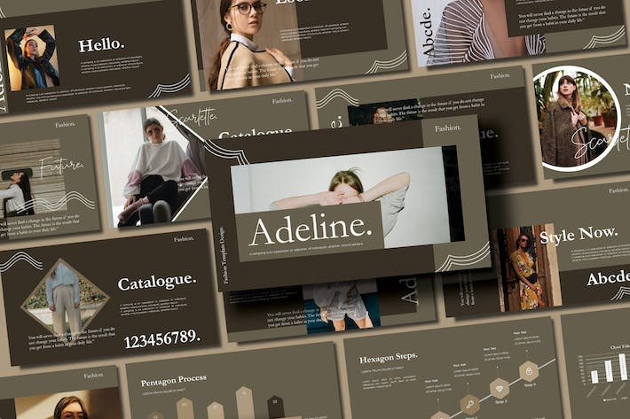 Cover Image For ADALINE - FASHION Powerpoint Template