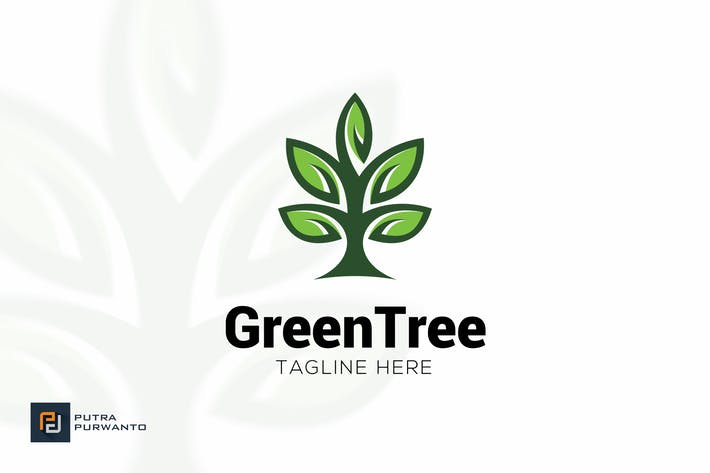 Thumbnail for Green Tree - Logo Template