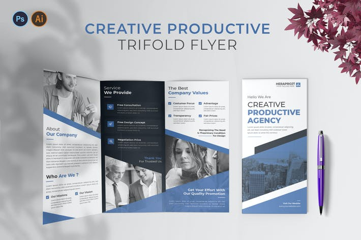 Thumbnail for Creative Productive – Trifold Brochure