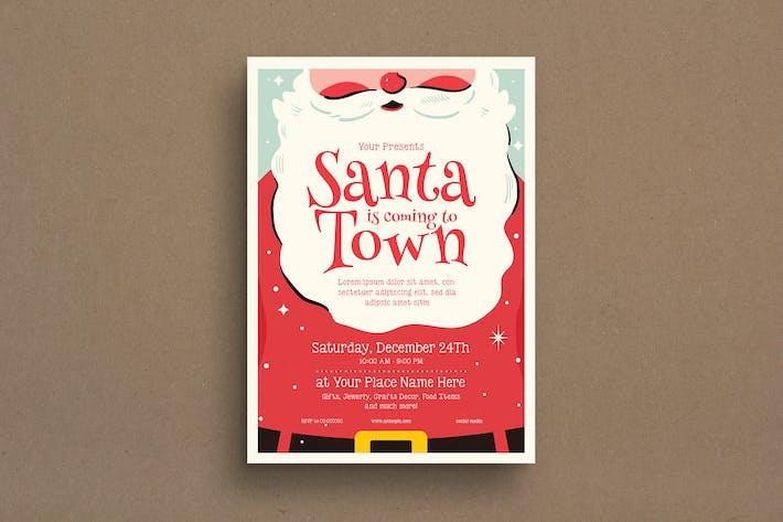 Thumbnail for Christmas Santa Event Flyer