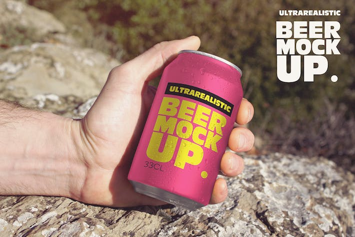 Thumbnail for Hand Beer Can Travel Mockup