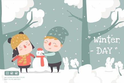 Winter - IlustrationsVorlage