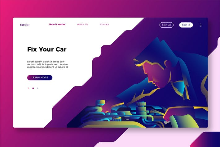 Thumbnail for Mechanic - Banner & Landing Page