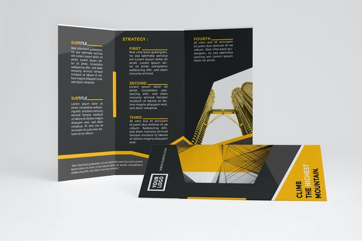 Thumbnail for Modern Yellow Trifold