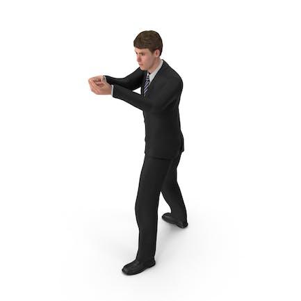 Hombre de negocios John Shooting