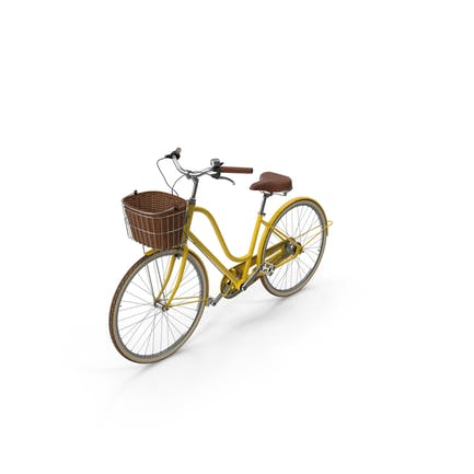Bicicleta Amarilla Con Cesta