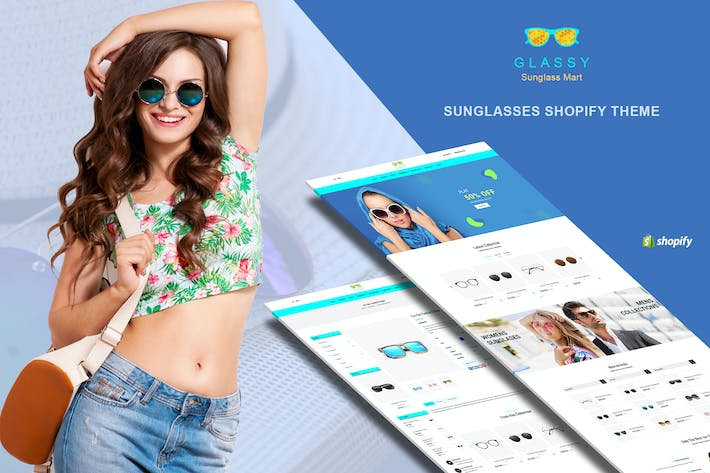 Thumbnail for Glassy - Sunglasses, Fashion Shopify Theme